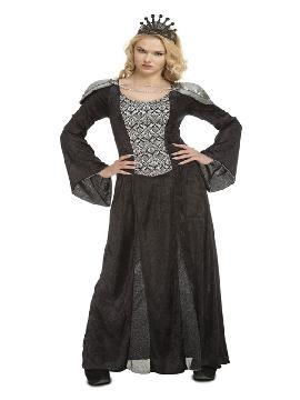 disfraz de reina negra medieval para mujer