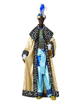 Disfraz de rey Baltasar adulto lujo.Es perfecto para celebraciones navideñas y cabalgatas de reyes. tales como belenes vivientes,desfiles o las tradicionales representaciones escolares.Este disfraz es ideal para tus fiestas temáticas de disfraces reyes magos adulto