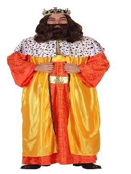 disfraz de rey mago baltasar hombre adulto. Vive la magia de la Navidad y la ilusión de los Reyes Magos con este elegante Disfraz de Rey Gaspar para hombre.Este disfraz resulta ideal para desfiles, cabalgatas, representaciones teatrales, fiestas navideñas, espectáculos, etc.Este disfraz es ideal para tus fiestas temáticas de disfraces reyes magos para adultos