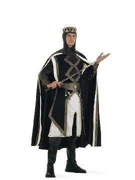 disfraz de rey de las cruzadas hombre