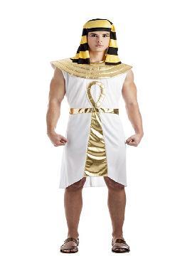 disfraz de rey egipcio para hombre adulto. Entrarás en Egipto para ser el todopoderoso de las tierras del nilo. Las fiestas de halloween, carnaval o temáticas son perfectas para lucir tu perfil egipcio. Este disfraz es ideal para tus fiestas temáticas de disfraces romanos y egipcios para grupos y familias.