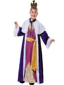 disfraz de rey gaspar lujo infantil