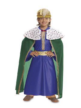 disfraz de rey mago azul niño
