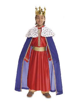 disfraz de rey mago rojo niño