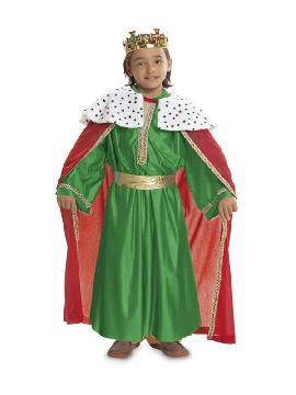disfraz de rey mago verde niño