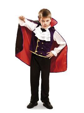 disfraz de rey vampiro con capa para niño