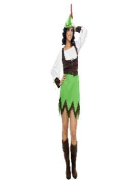 disfraz de robin hood mujer. Éste traje es muy pero que muy Sexy y podría servir también como disfraz de Peter Pan sexy de chica.Este disfraz es ideal para tus fiestas temáticas de disfraces cuentos populares,famosos y músicos para adultos pareja o familia