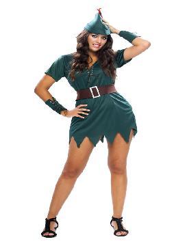 disfraz de robin hood sexy mujer
