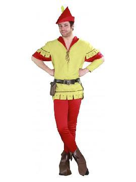 disfraz de robin hood verde hombre. Este completo traje es idóneo para convertirse en un arquero de la edad media en ferias medievales, recrear a un fornido leñador en Carnaval. Este disfraz es ideal para tus fiestas temáticas de disfraces cuentos populares,famosos y músicos para adultos en pareja y familia