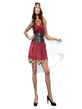 disfraz de romana roja para mujer. Este traje de guerrero del ejército de Roma es ideal para Carnaval, Ferias Históricas, Eventos Temáticos de Disfraces.Este disfraz es ideal para tus fiestas temáticas de disfraces de guerreros y arabes, romanos y egipcios para hombre adultos.