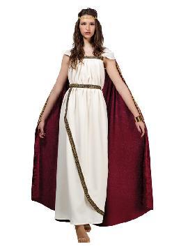 disfraz de romana troyana mujer. Este tipo de vestidos, son favorecedores y aportan mucho estilo, para poder asistir a cenas y bailes de disfraces elegantes. Este disfraz es ideal para tus fiestas temáticas de disfraces de guerreros y arabes, romanos y egipcios para adultos. Fabricación Nacional