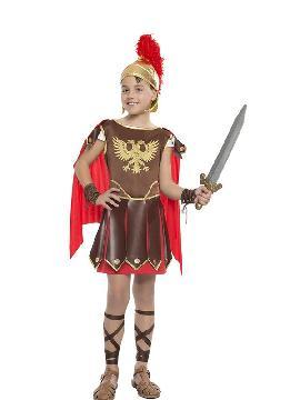 disfraz de romano aguila niño. Tu hijo será el valiente héroe de la mitología griega. Defiende a los humanos de los monstruos como la hidra para que disfruten de las fiestas de Carnaval y cabalgatas de reyes. Este disfraz es ideal para tus fiestas temáticas de disfraces romanos y egipcios para infantil.
