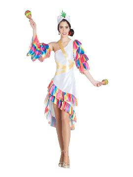 disfraz de rumbera blanca mujer