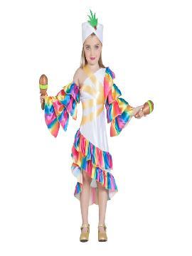 disfraz de rumbera blanca niña