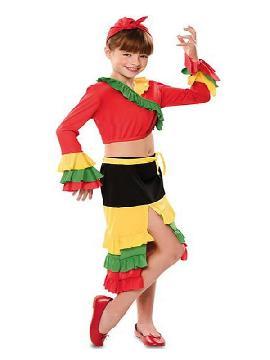 disfraz de rumbera roja para niña