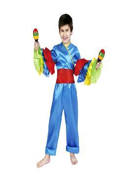 disfraz de rumbero azul niño