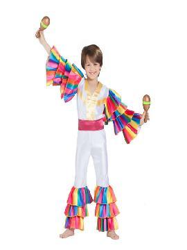 disfraz de rumbero blanco niño