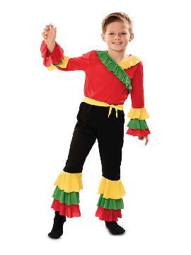 disfraz de rumbero rojo para niño