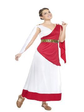 disfraz de sacerdotisa romana mujer. Disfruta representando a personajes de las película más míticas sobre la Antigua Roma en Fiestas Temáticas. Este disfraz es ideal para tus fiestas temáticas de disfraces romanos y egipcios adulto