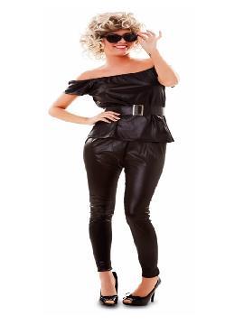 disfraz de sandy negro para mujer