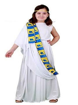 disfraz de senadora romana. Prepárate para la Fiesta Romana  más divertida en carnaval y fiestas temanticas.Este disfraz es ideal para tus fiestas temáticas de disfraces romanos y egipcios para niña infantiles.