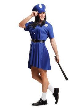 disfraz de señorita policia para hombre