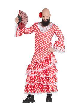 disfraz de sevillana lunares para hombre