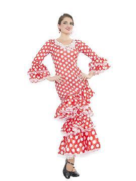 disfraz de sevillana para mujer. Compra tu disfraz barato adulto para tu grupo. Este traje es ideal para tus fiestas temáticas de andaluces y flamencos.