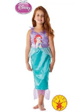 disfraz de sirena Ariel classic niña. La más pequeña de la familia podrá sentirse como Ariel, la sirena más famosa de Disney. Será la princesa en Fiestas de Cumpleaños o Carnaval.