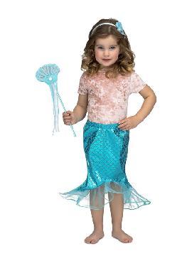 disfraz de sirena azul para niña