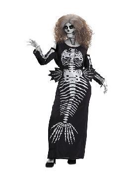 disfraz de sirena esqueleto para mujer
