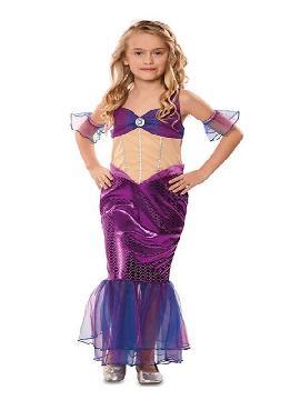 disfraz de sirena morada para niña