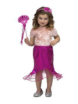 disfraz de sirena rosa para niña