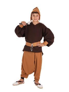 disfraz de sirviente medieval para niño