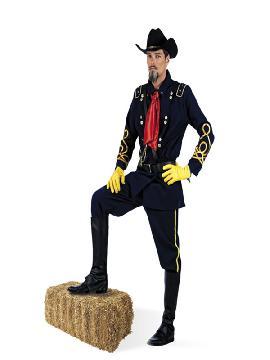 disfraz de soldado conferedado hombre