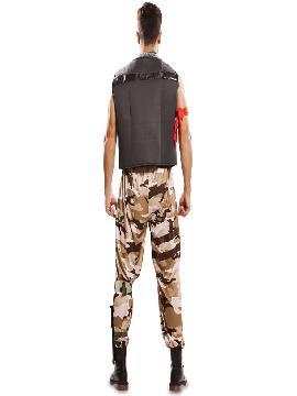disfraz de soldado combate para hombre
