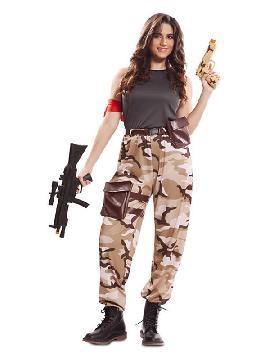 disfraz de soldado de combate para mujer