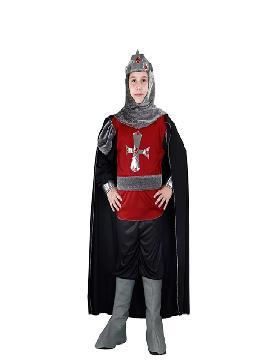 disfraz de soldado medieval niño infantil. Con esta fabuloso te convertirá en un auténtico soldado medieval. Fiestas temáticas, ferias y mercados medievales. Este disfraz es ideal para tus fiestas temáticas de disfraces época y medievales para la edad media de infantiles.