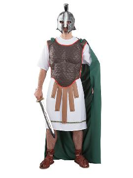 Disfraz de soldado romano hombre. Te sentirás como un auténtico soldado del ejército de la roma clásica. Es ideal para Carnaval, fiestas históricas, eventos temáticos y representaciones teatrales y seras un autentico adulto. fabricación nacional