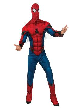disfraz de spiderman homecoming musculoso hombre