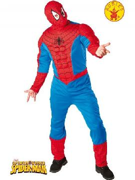 disfraz de spiderman musculoso hombre adulto. Te hará subir por la paredes en estas fiestas. Los superhéroes tienen que entrenar y duro para enfrentarse a los malvados. Sé igual que el protagonista de cómic de Marvel y enamora a Mary Jane Watson