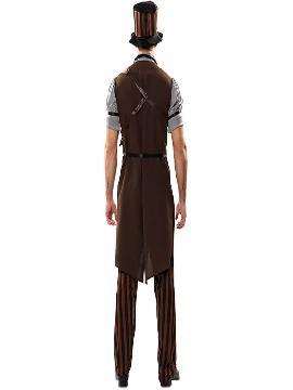 disfraz de steampunk a rayas para hombre