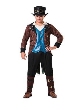 disfraz de steampunk con sombrero hombre