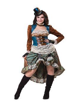 disfraz de steampunk con sombrero mujer