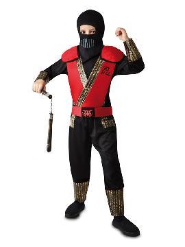 disfraz de sub zero mortal kombat rojo niño
