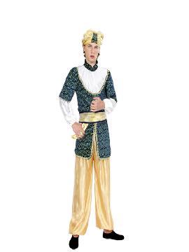 Disfraz de sultán amarillo hombre adulto. Serás el más rico y poderoso en tus Fiestas Temáticas,navidad o cabalgatas de reyes. Prepárate para que todas las mujeres caigan rendidas a tus pies, y deseen ser tu princesa.