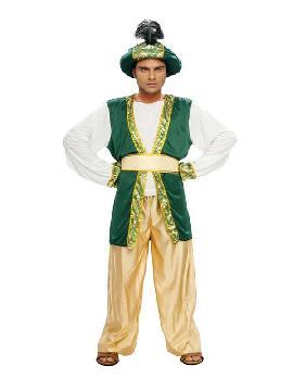 disfraz de sultan verde hombre