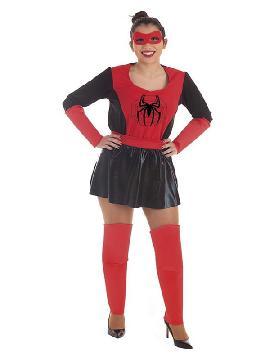 disfraz de super heroina con araña para mujer