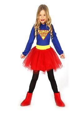 disfraz de supergirls con tutu niña