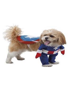 disfraz de superheroe capitan america para perro